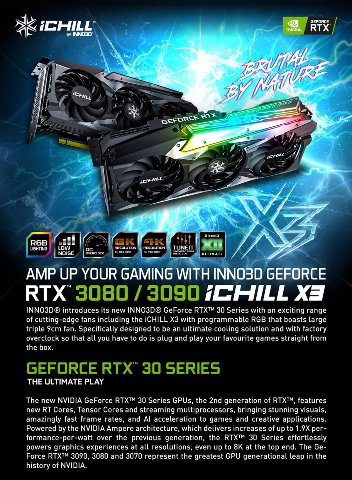 Inno3d Geforce Rtx 3080 Ichill X3 10gb Gddr6x Features