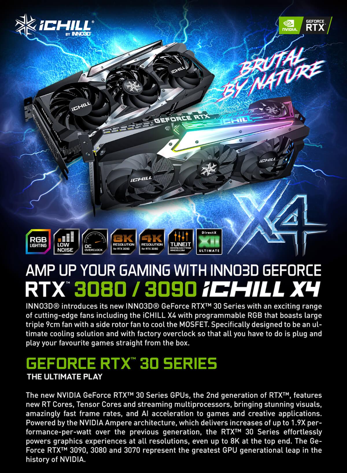 Inno3d Geforce Rtx 3080 Ichill X4 10gb Gddr6x Features