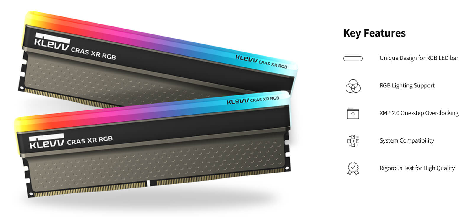 Klevv Cras Xr Rgb Ddr4 Oc Memory Keys Feature