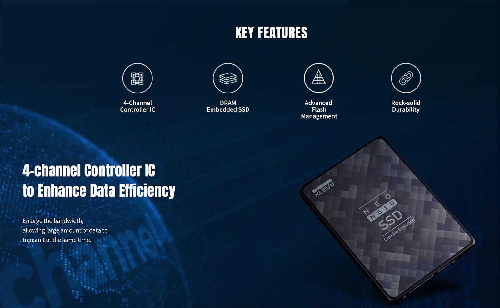 Klevv Neo N610 2.5 Sata 3 Ssd Keys Feature