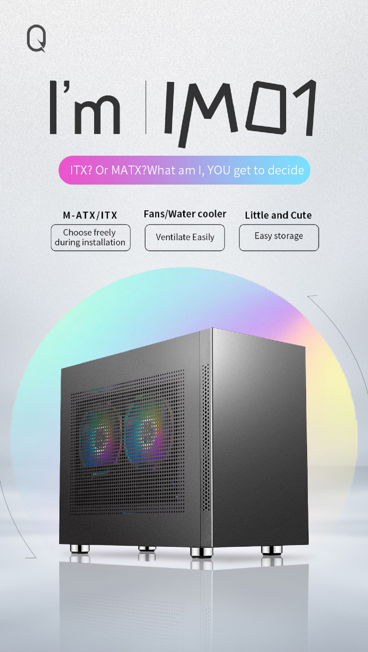 SAMA IM01 Mini ITX Case - Màu Xám