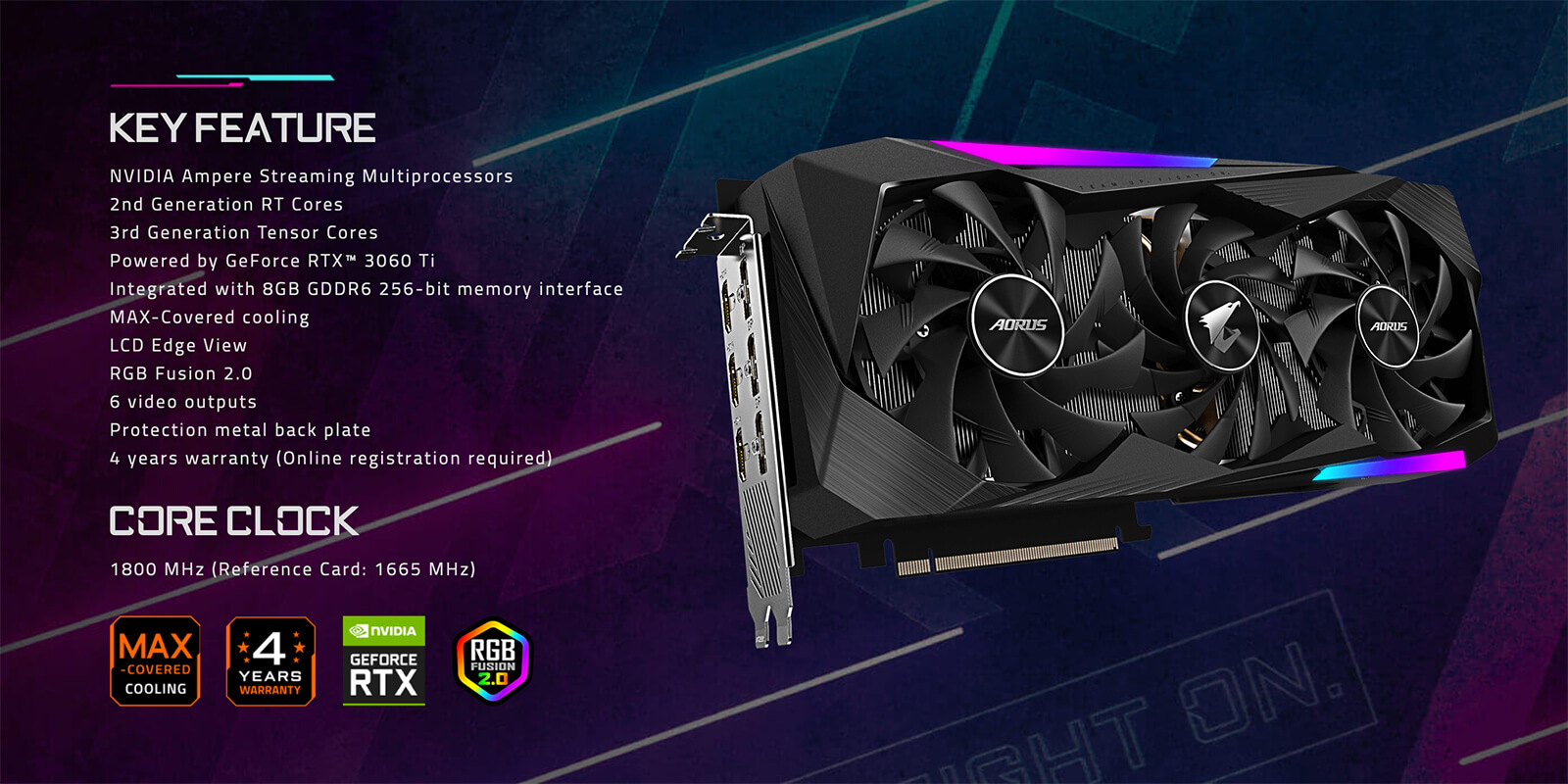 Aorus Geforce® Rtx 3060 Ti Master 8g Features
