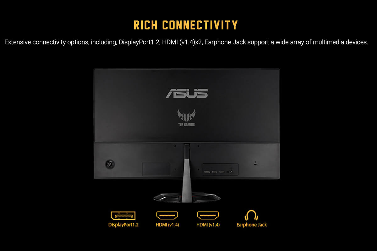 Asus Tuf Gaming Vg279q1r Gaming Monitor – 27 Inch Fullhd 144hz Features 10