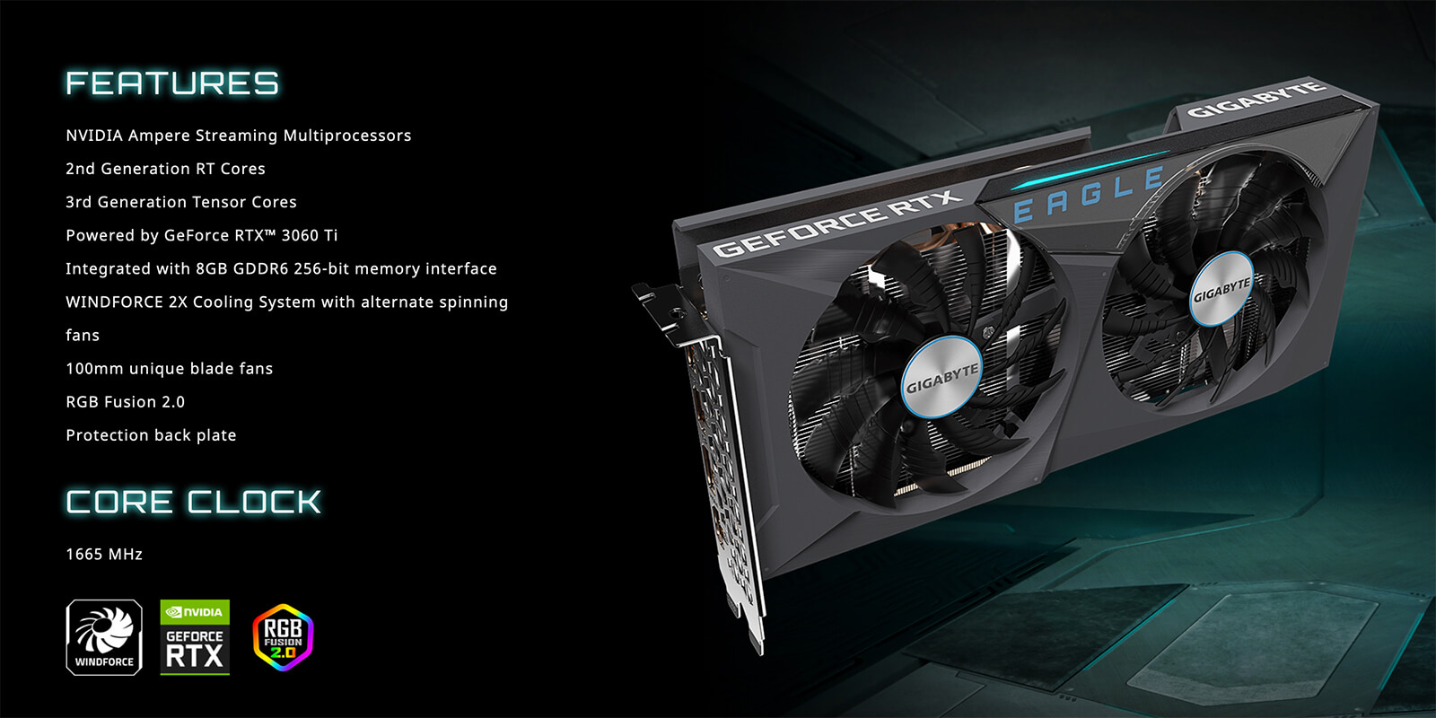 Gigabyte Geforce® Rtx 3060 Ti Eagle 8g Features