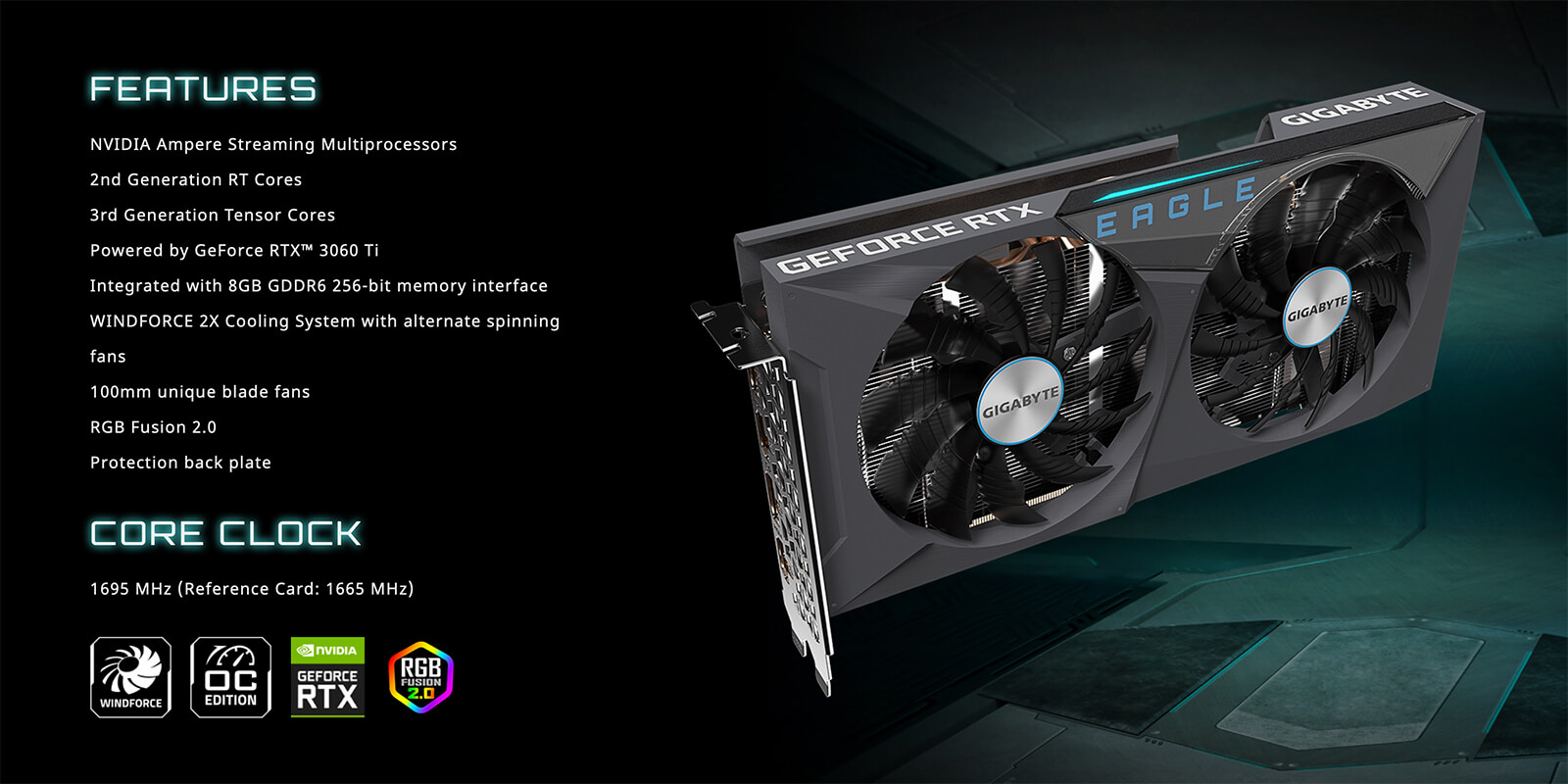 Gigabyte Geforce® Rtx 3060 Ti Eagle Oc 8g Features