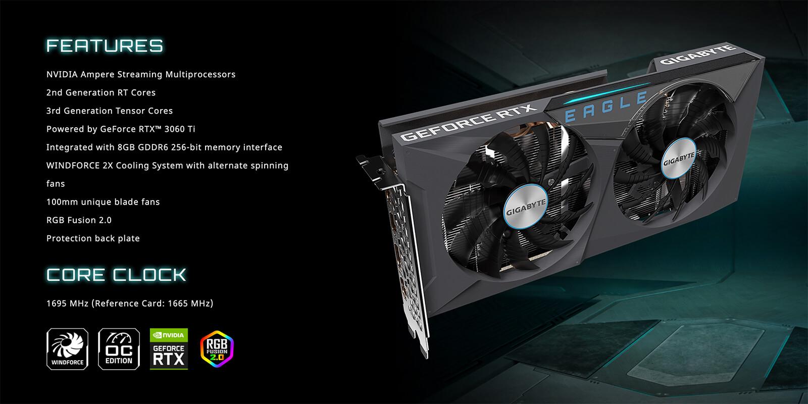 Gigabyte Geforce® Rtx 3060 Ti Eagle Oc 8g Features