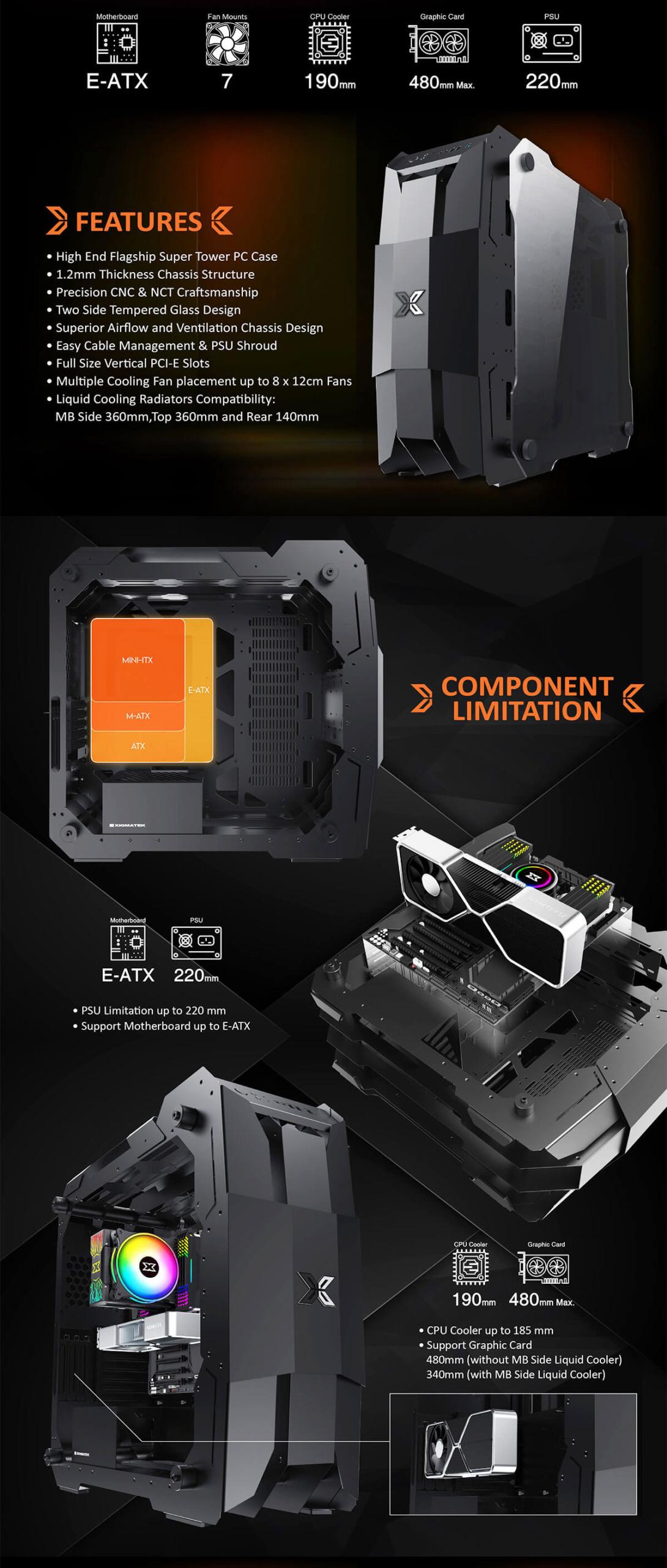 Case Xigmatek X7 Super Tower Black Features 2