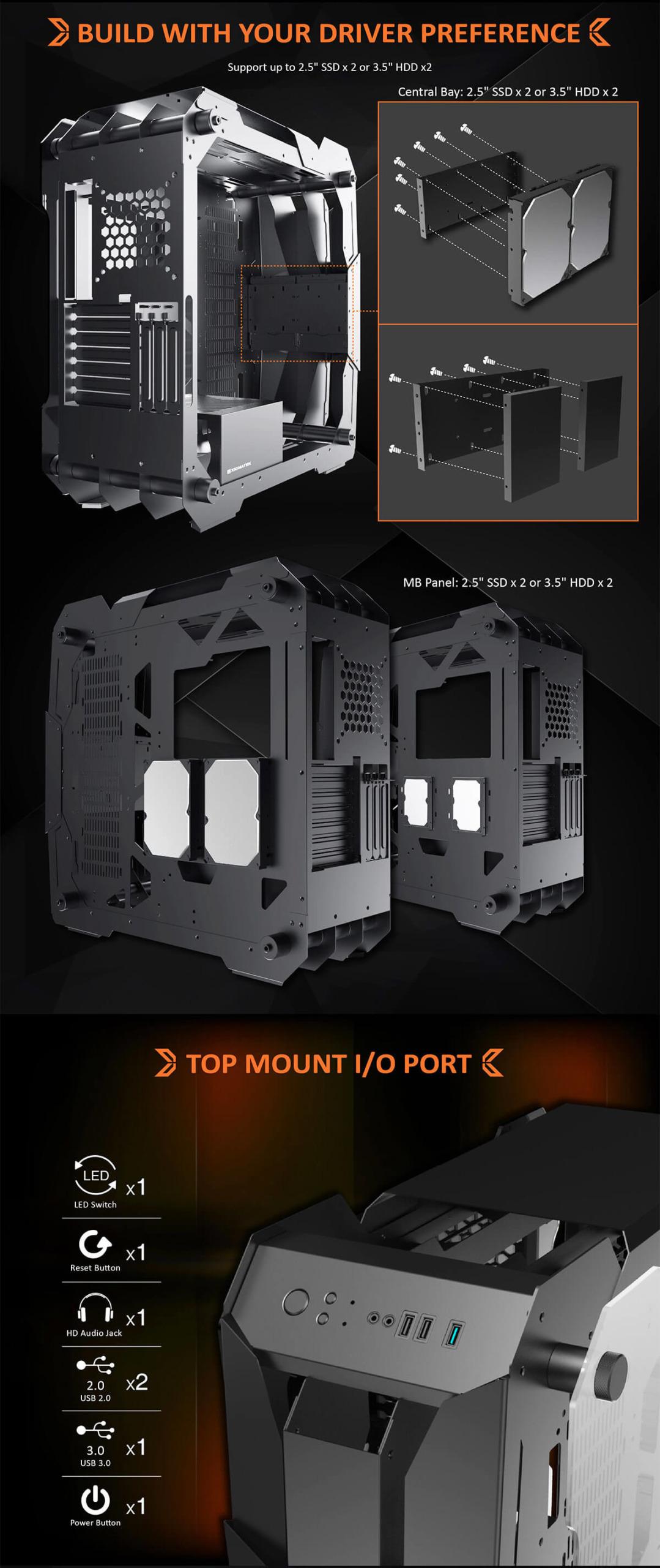 Case Xigmatek X7 Super Tower Black Features 4