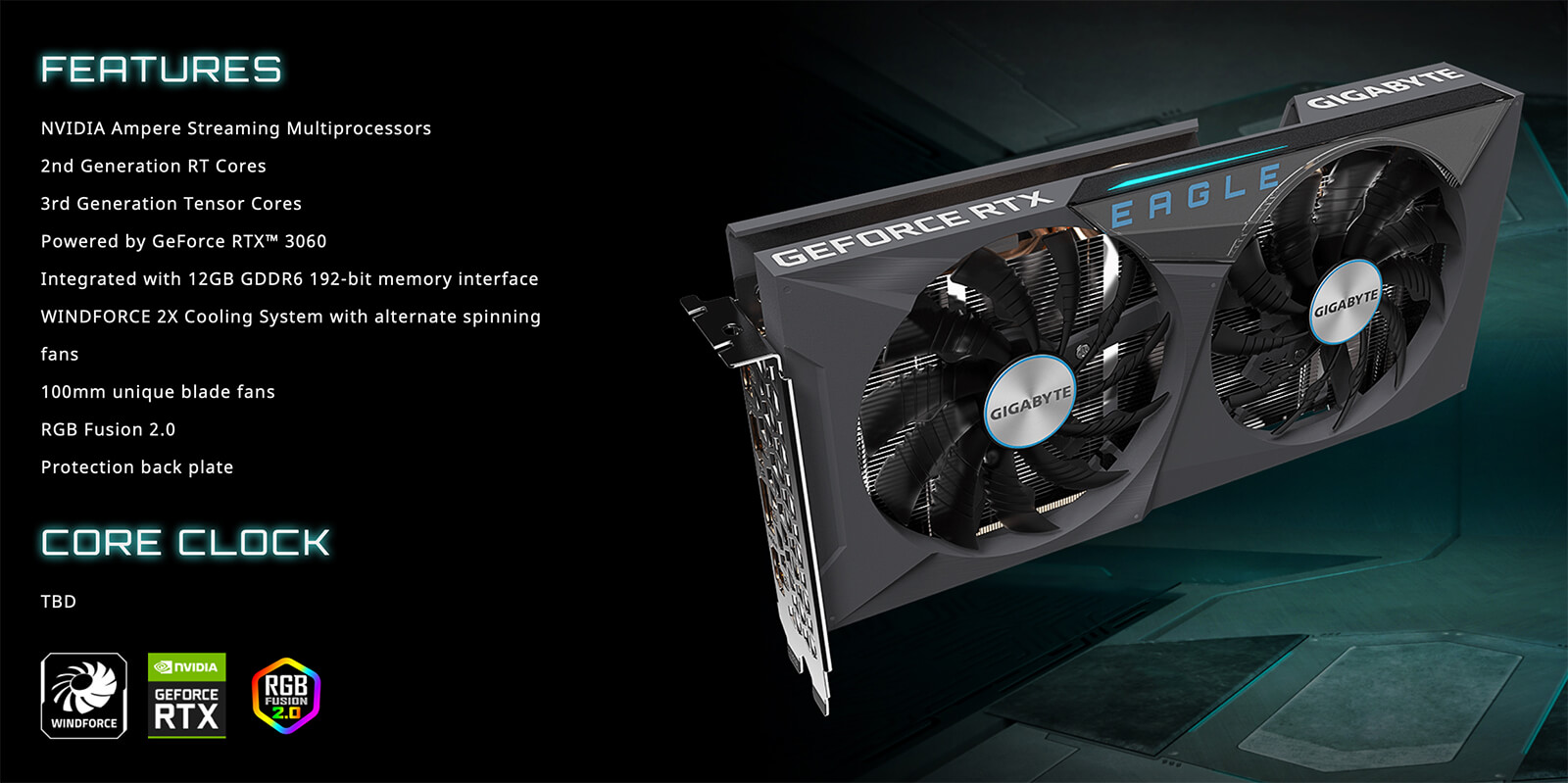 Gigabyte Geforce Rtx™ 3060 Eagle 12g Features
