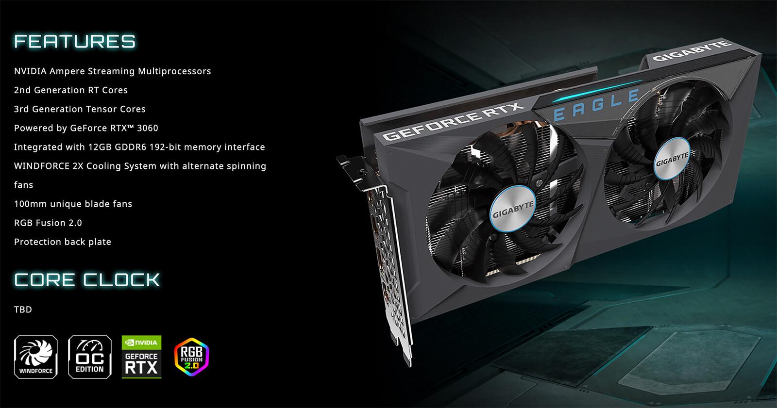 Gigabyte Geforce Rtx™ 3060 Eagle Oc 12g Features