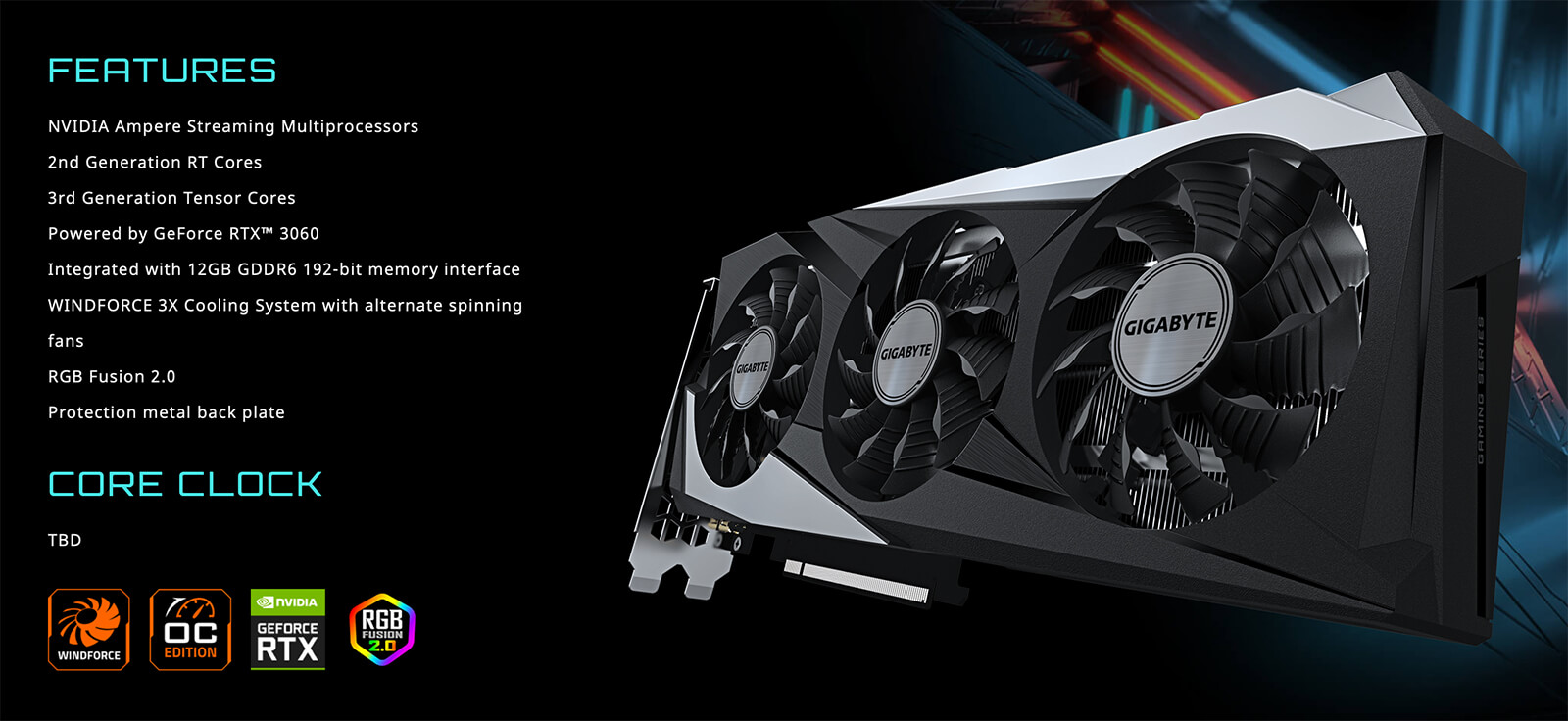 Gigabyte Geforce Rtx™ 3060 Gaming Oc 12g Features