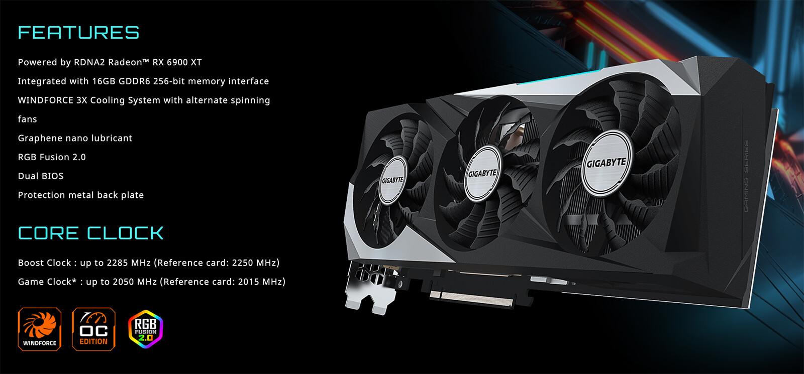 Gigabyte Radeon™ Rx 6900 Xt Gaming Oc 16g Features