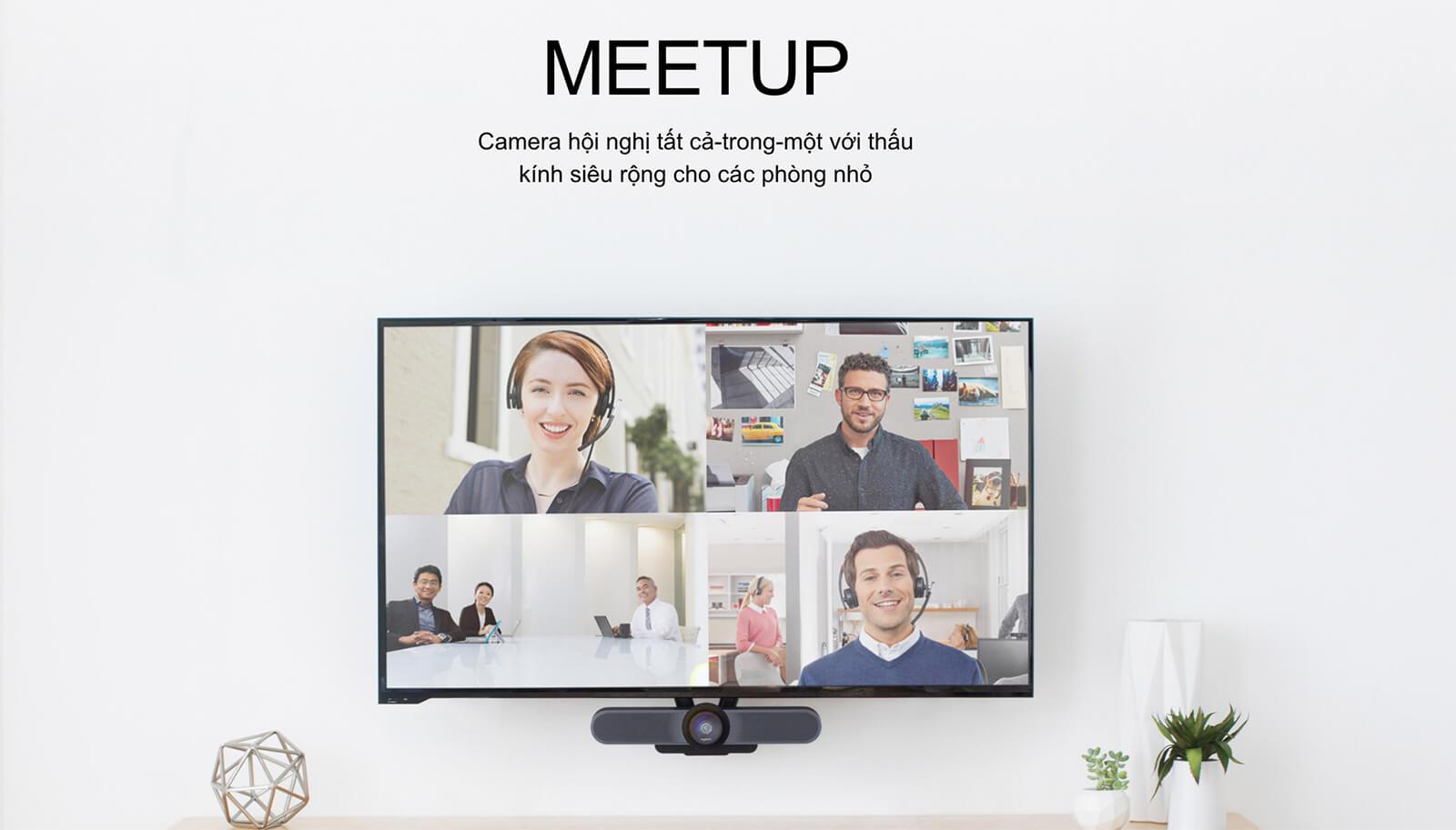 Logitech Meetup - Camera Hội Nghị cho các Phòng Họp Nhỏ - UltraHD 4K