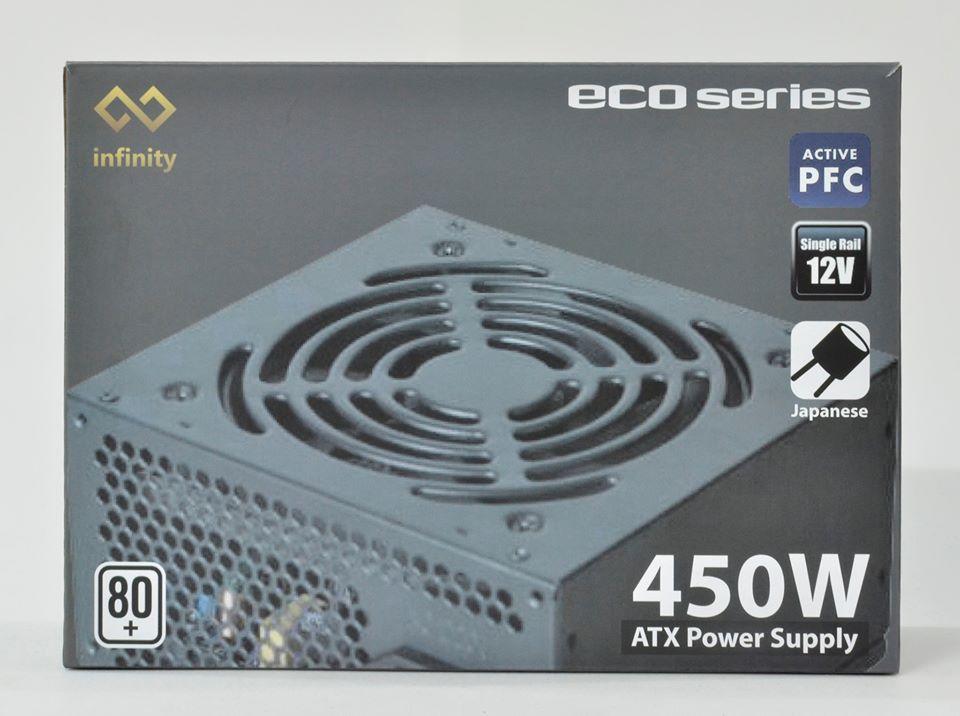 Infinity ECO 450W 80Plus Single Rail - True Power