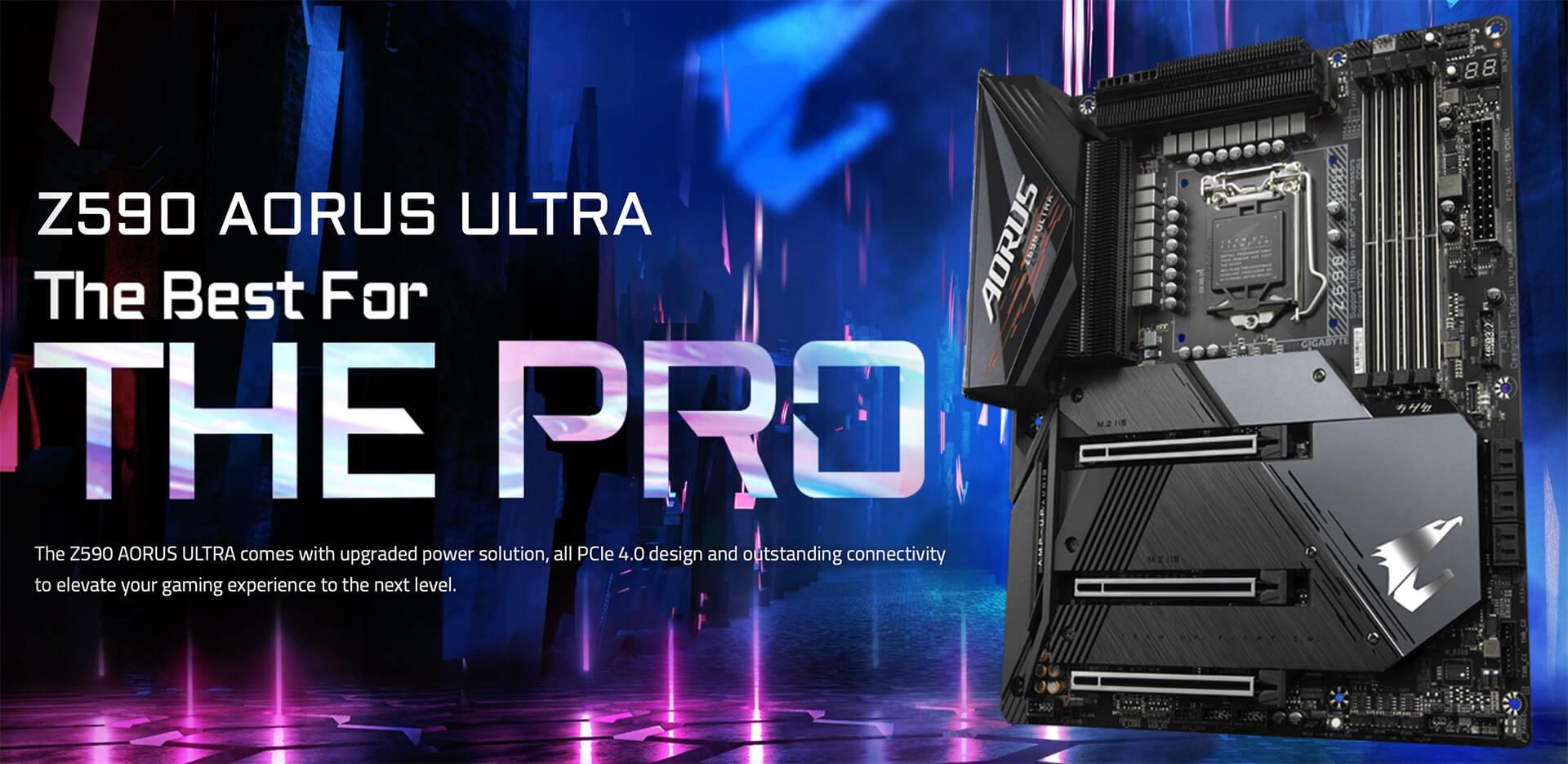 Gigabyte Z590 Aorus Ultra (rev 1.0) Socket 1200 Banner