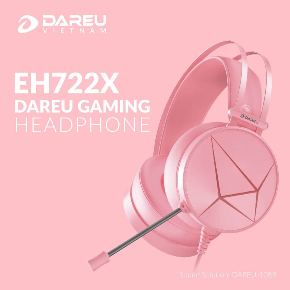 Dareu Eh722x 7.1 Queen Pink Gaming Headset Features V1