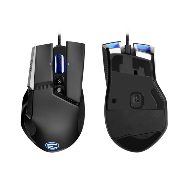EVGA X17 Gaming Mouse - Wired - Black - Customizable - 16,000 DPI - 5 Profiles - 10 Buttons - Ergonomic