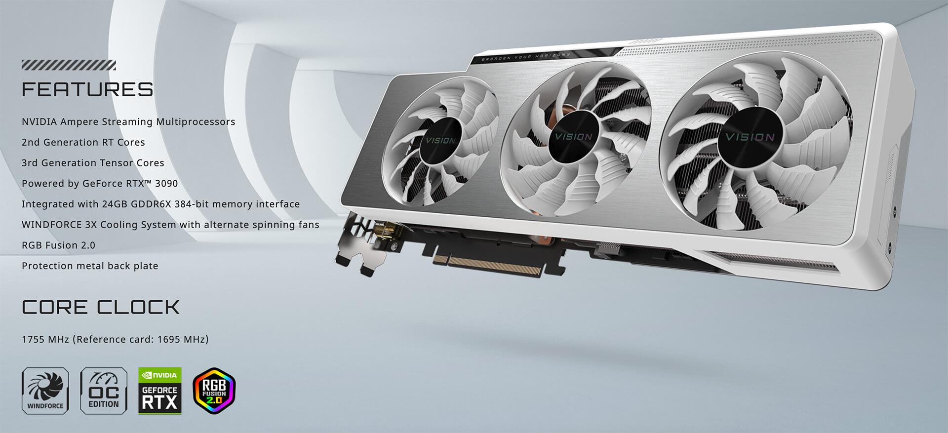 Gigabyte Geforce Rtx™ 3090 Vision Oc 24gb