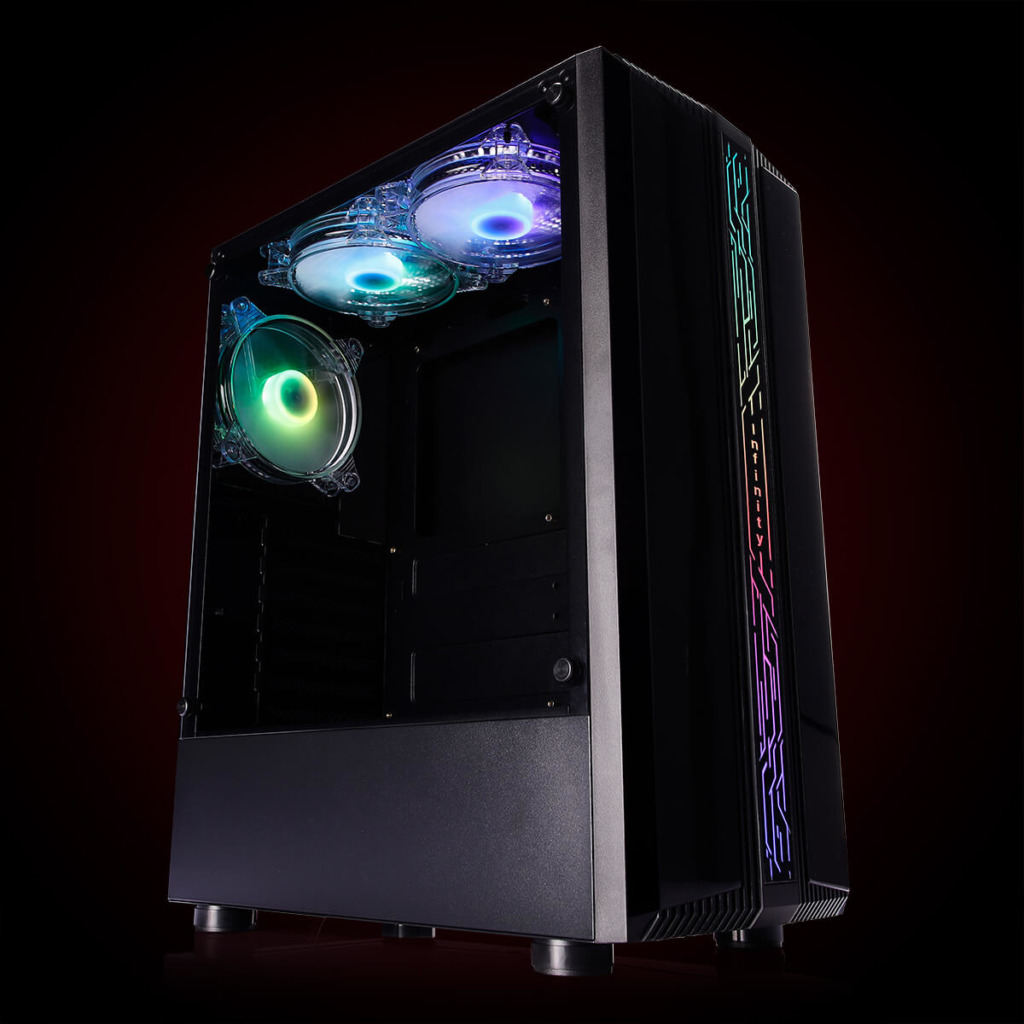 Infinity Denki Pro – Tempered Glass Gaming Case Features H1