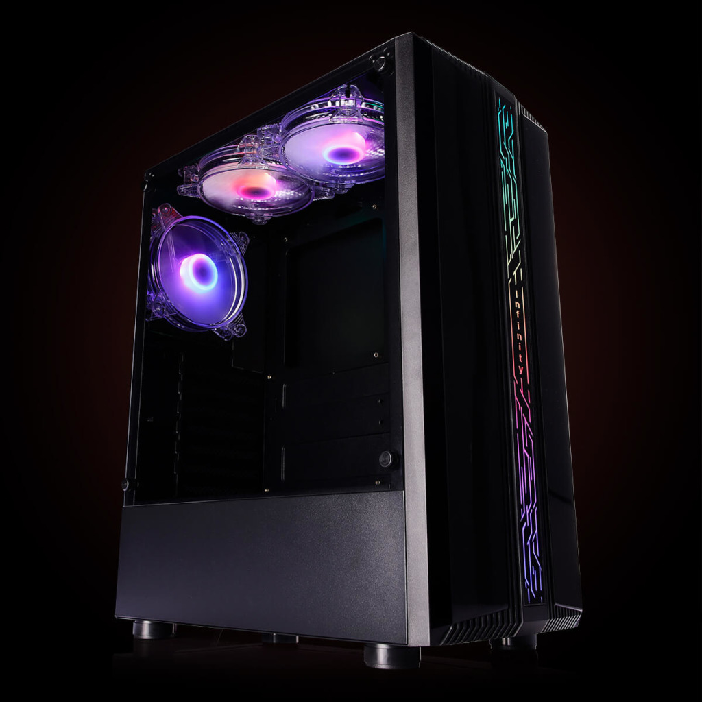 Infinity Denki Pro – Tempered Glass Gaming Case Features H2