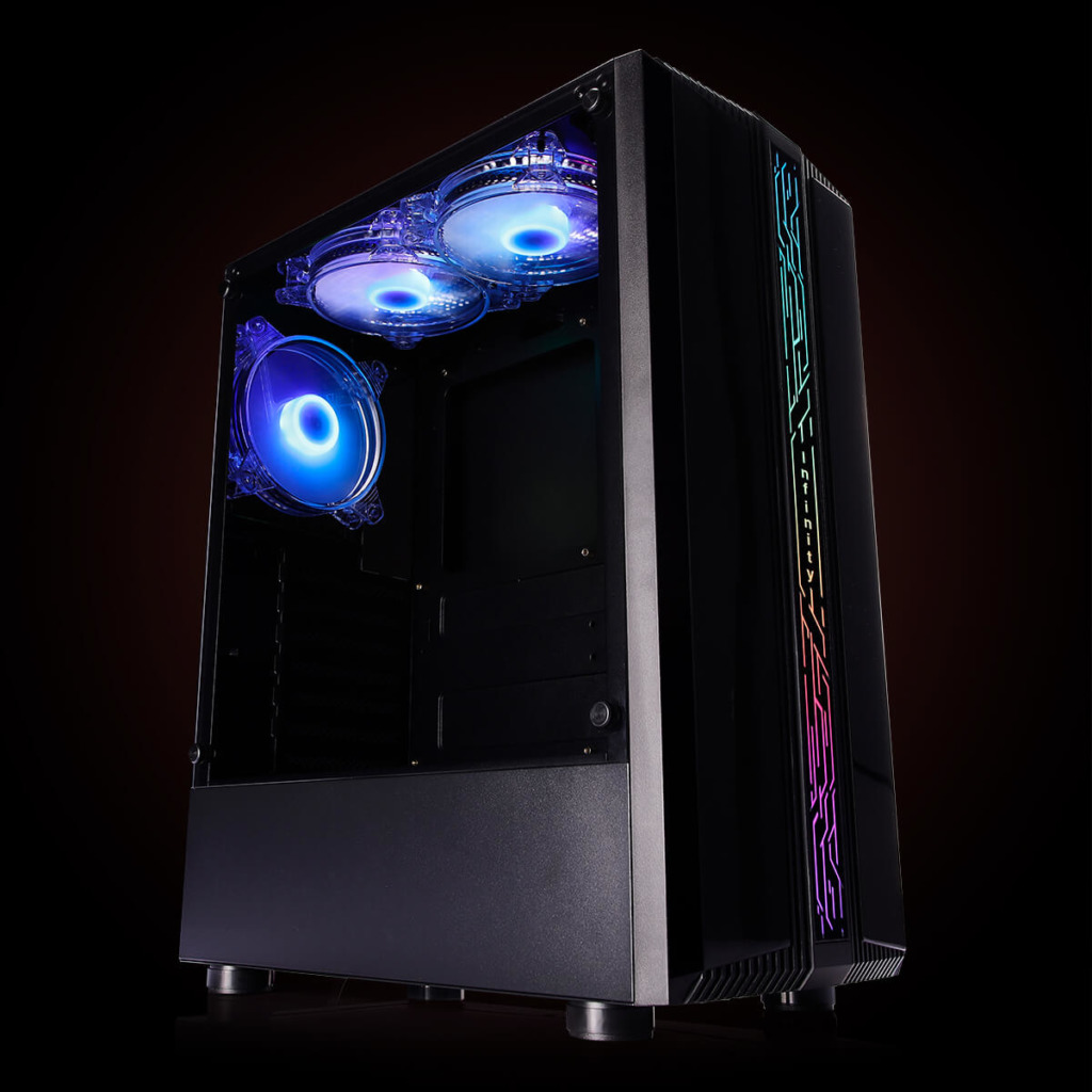 Infinity Denki Pro – Tempered Glass Gaming Case Features H4