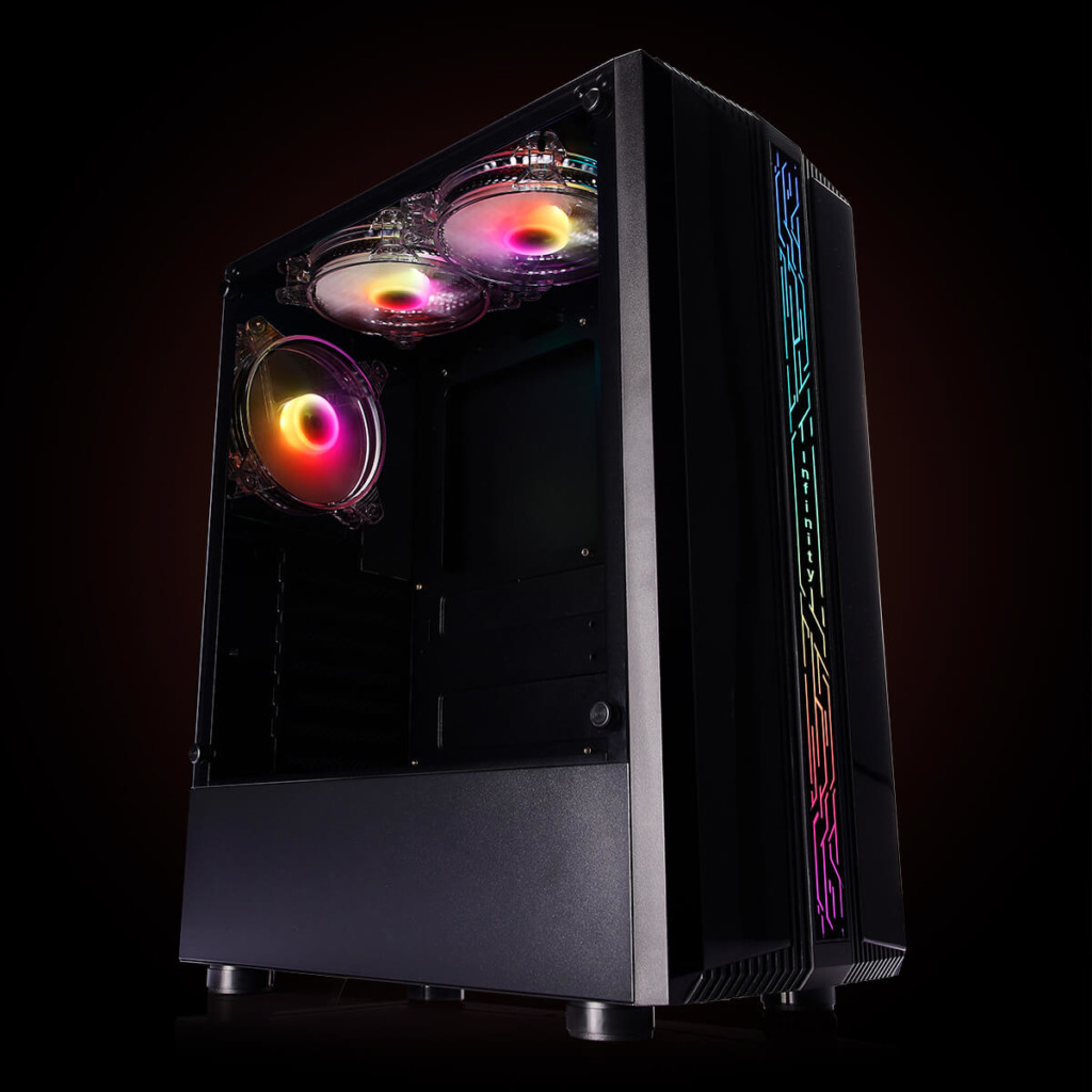 Infinity Denki Pro – Tempered Glass Gaming Case Features H5