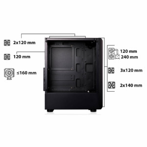 Infinity Denki Pro – Tempered Glass Gaming Case H7