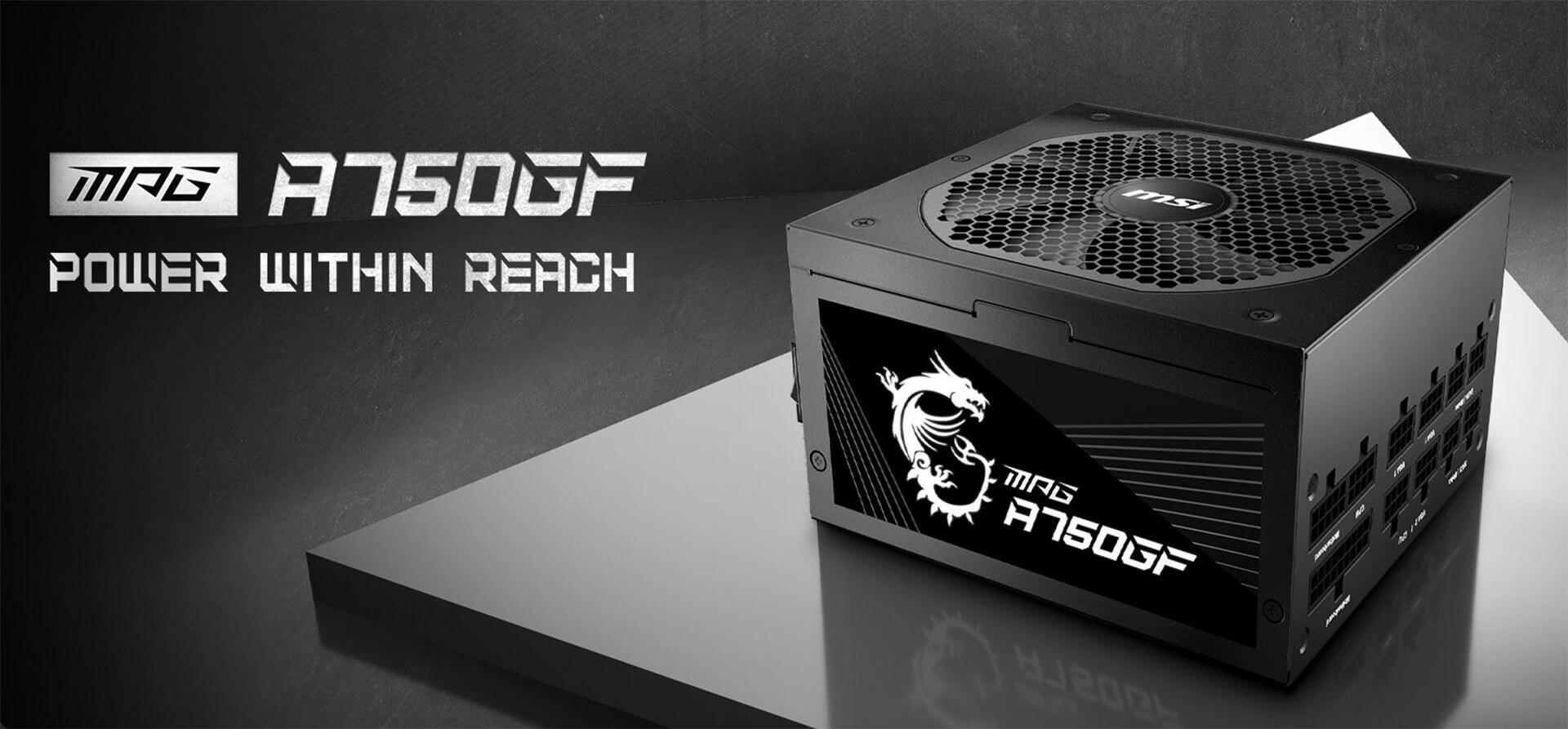 Msi Mpg A750gf 750w 80plus Gold Fully Modular Feature