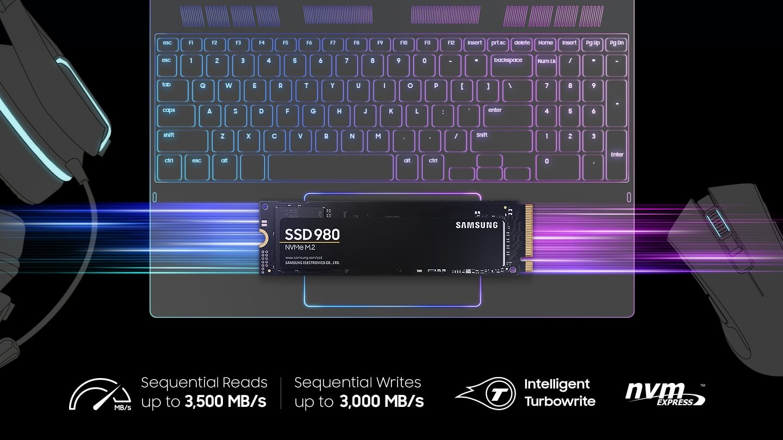 (Chính hãng) Samsung 980 M.2 2280 1TB - PCIe Gen 3.0 x4 NVMe V-NAND