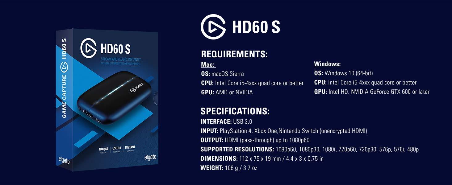 Capture Card Elgato HD60S