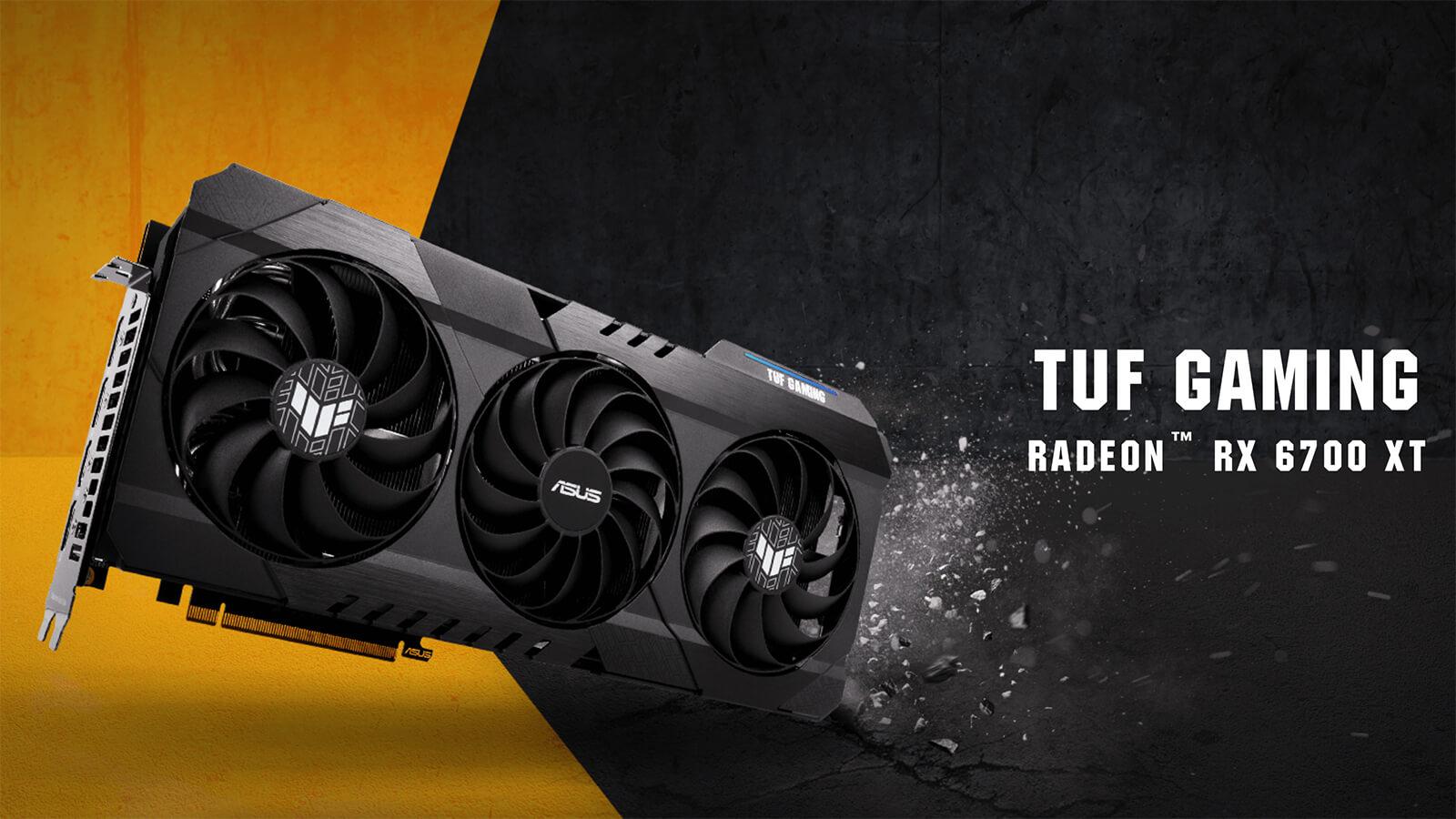 Asus TUF Gaming Radeon™ RX 6700 XT OC Edition 12GB GDDR6