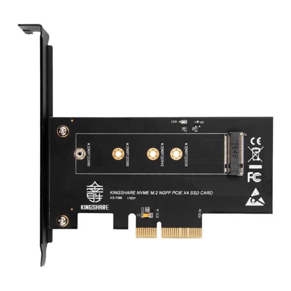 Adapter Kingshare Chuyển Đổi SSD M2 NVMe To PCIe 3.0 x 4