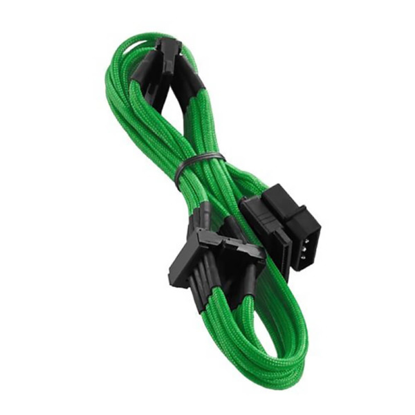 CableMod ModFlex™ Molex to 4 x SATA - Power Sleeved Cable - Green