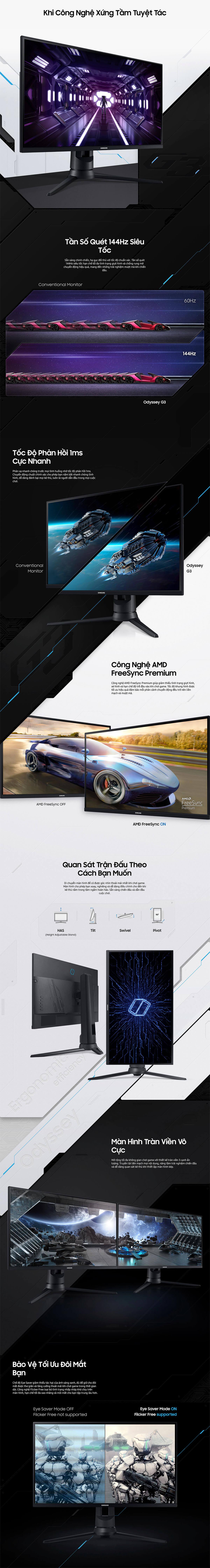 Samsung 24 inch LF24G35TFWEXXV (FHD, 144Hz, VA, 1ms)