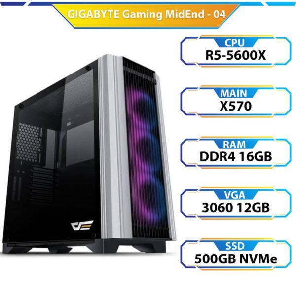 TD Gigabyte Gaming MidEnd 04 (R5-5600X, 16GB DDR4, RTX 3060 12GB, SSD 500GB)