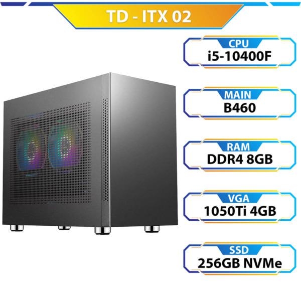 TD ITX 02 (Core i5-10400F, 16GB DDR4, GTX 1050TI, SSD 256GB)