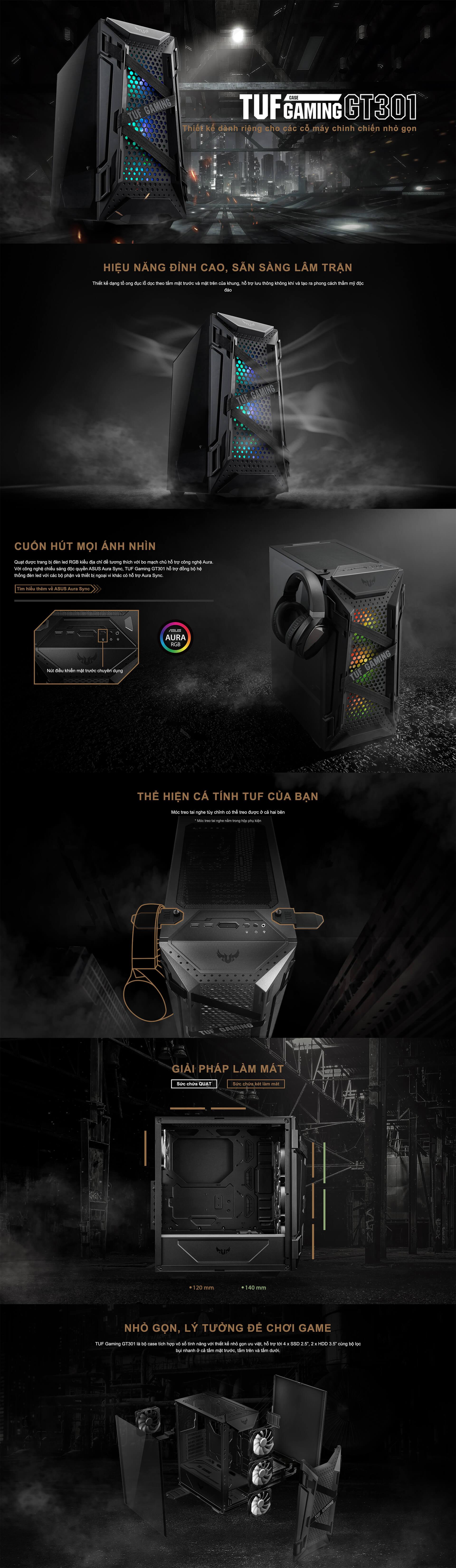 ASUS TUF Gaming GT301 Mid-Tower Gaming Case