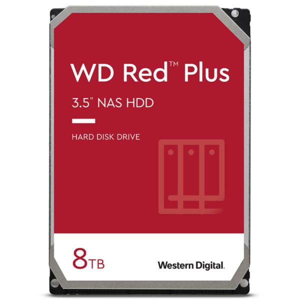 Western Digital Red Plus 8TB - 24/7 256MB cache Sata 3 - NAS Hard Disk Drive