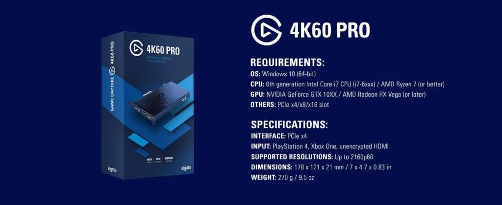 Capture Card Elgato 4K60 Pro