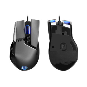 EVGA X17 Gaming Mouse - Wired - Grey - Customizable - 16,000 DPI - 5 Profiles - 10 Buttons - Ergonomic