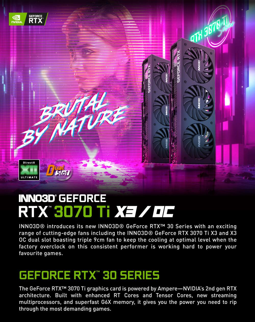 INNO3D GeForce RTX™ 3070 Ti X3 OC - 8GB GDDR6X