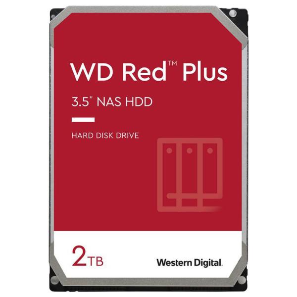 Western Digital Red Plus 2TB - 24/7 128MB cache Sata 3 - NAS Hard Disk Drive