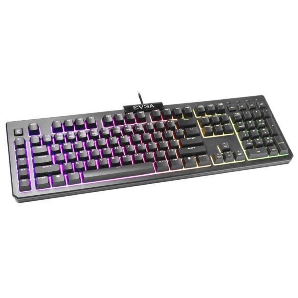 EVGA Z12 - RGB Gaming Keyboard - RGB Backlit LED - 5 Programmable Macro Keys - Dedicated Media Keys - Water Resistant